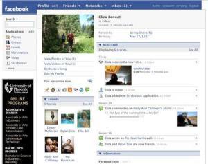Homepage Facebook